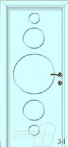 34. számú festett beltéri ajtó minta