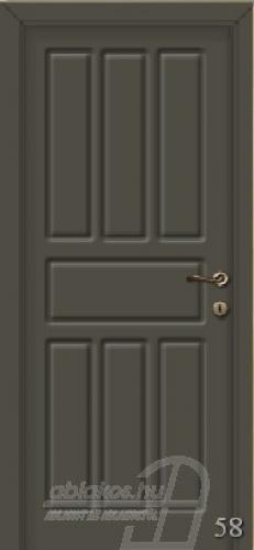 58. számú festett beltéri ajtó minta