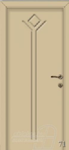 71. számú festett beltéri ajtó minta