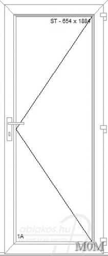 M0M műanyag beltéri ajtó minta