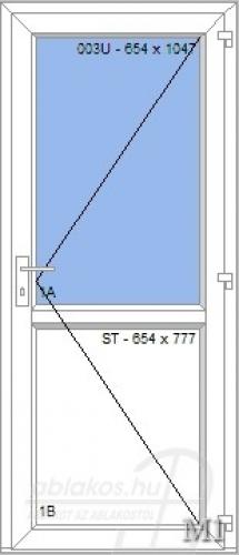 M1 műanyag beltéri ajtó minta