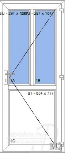 M2 műanyag beltéri ajtó minta