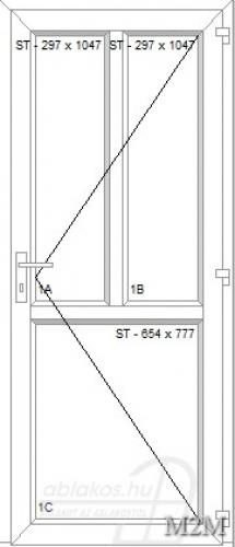 M2M műanyag beltéri ajtó minta