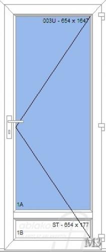 M3 műanyag beltéri ajtó minta