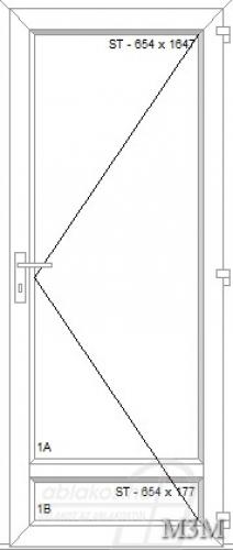 M3M beltéri ajtó minta