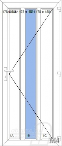 M4 műanyag beltéri ajtó minta