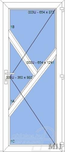 M11 műanyag beltéri ajtó minta
