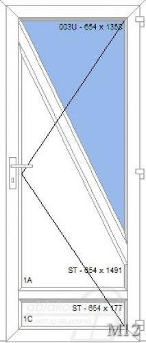 M12 műanyag beltéri ajtó minta